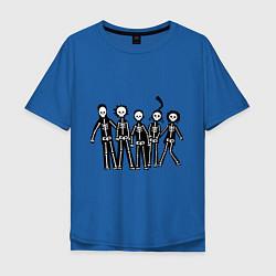 Мужская футболка оверсайз Отбросы-скелеты
