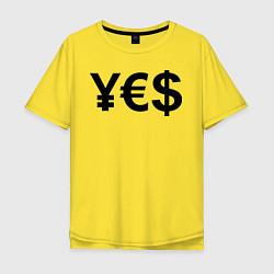 Футболка оверсайз мужская YE$ цвета желтый — фото 1