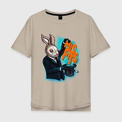 Мужская футболка оверсайз Rabbit magician