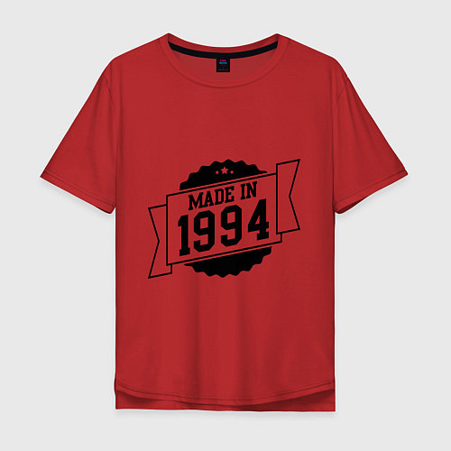 Мужская футболка оверсайз Made in 1994 / Красный – фото 1