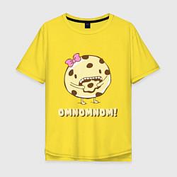 Футболка оверсайз мужская Cake: Omnomnom! цвета желтый — фото 1