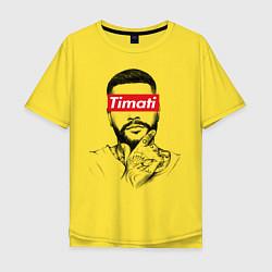Футболка оверсайз мужская Timati Supreme цвета желтый — фото 1