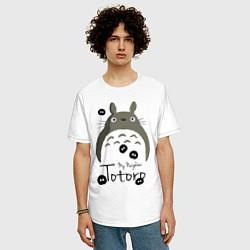 Футболка оверсайз мужская My Neighbor Totoro цвета белый — фото 2