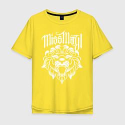 Футболка оверсайз мужская Miss May I: Angry Lion цвета желтый — фото 1