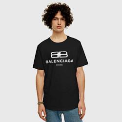 Футболка оверсайз мужская Balenciaga Paris цвета черный — фото 2