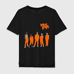 Футболка оверсайз мужская Misfits Orange цвета черный — фото 1
