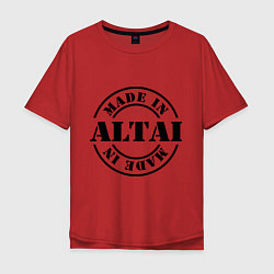 Футболка оверсайз мужская Made in Altai цвета красный — фото 1