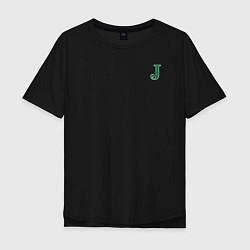 Футболка оверсайз мужская J - Joker цвета черный — фото 1