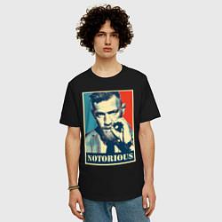Мужская удлиненная футболка с принтом Notorious, цвет: черный, артикул: 10203978305753 — фото 2