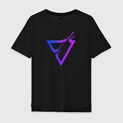 Футболка оверсайз мужская Liquid Triangle цвета черный — фото 1