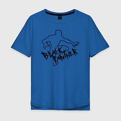 Футболка оверсайз мужская Черная Пантера Мстители цвета синий — фото 1