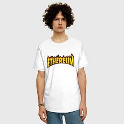 Футболка оверсайз мужская ETHEREUM x THRASHER цвета белый — фото 2