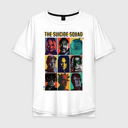 Футболка оверсайз мужская The Suicide Squad цвета белый — фото 1