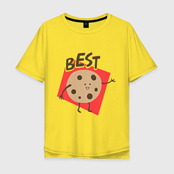 Футболка оверсайз мужская Печенька цвета желтый — фото 1