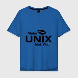 Мужская футболка оверсайз Make unix, not war