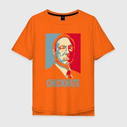 Футболка оверсайз мужская Checkmate Spacey цвета оранжевый — фото 1