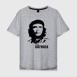 Футболка оверсайз мужская Эрнесто Че Гевара цвета меланж — фото 1