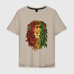 Мужская футболка оверсайз Rasta Lion