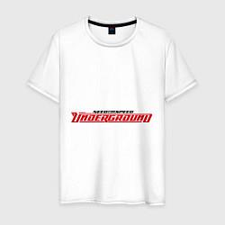 Футболка хлопковая мужская NFS Undeground цвета белый — фото 1