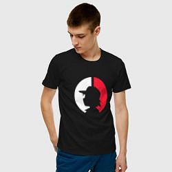 Футболка хлопковая мужская Эш: ловец покемонов цвета черный — фото 2
