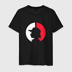 Футболка хлопковая мужская Эш: ловец покемонов цвета черный — фото 1