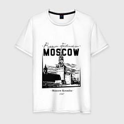 Футболка хлопковая мужская Moscow Kremlin 1147 цвета белый — фото 1