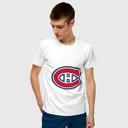 Футболка хлопковая мужская Montreal Canadiens цвета белый — фото 2