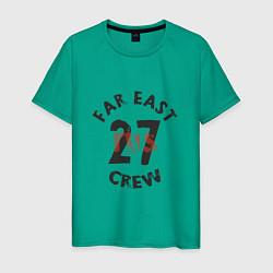 Футболка хлопковая мужская Far East 27 Crew цвета зеленый — фото 1