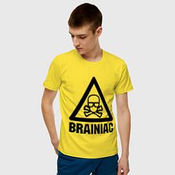 Футболка хлопковая мужская Brainiac цвета желтый — фото 2