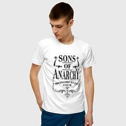 Футболка хлопковая мужская Anarchy Motorcycle Club цвета белый — фото 2