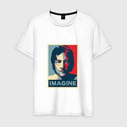 Футболка хлопковая мужская Lennon Imagine цвета белый — фото 1