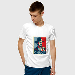 Футболка хлопковая мужская Chuck Poster цвета белый — фото 2