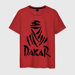 Футболка хлопковая мужская Rally Dakar цвета красный — фото 1