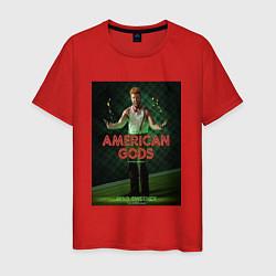 Футболка хлопковая мужская American Gods: Mad Sweeney цвета красный — фото 1