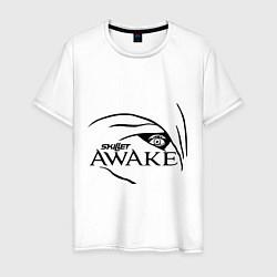 Мужская хлопковая футболка с принтом Skillet awake, цвет: белый, артикул: 10013056000001 — фото 1