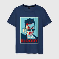 Футболка хлопковая мужская Bloody Poster цвета тёмно-синий — фото 1