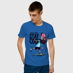Футболка хлопковая мужская Stay cool цвета синий — фото 2