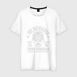 Мужская хлопковая футболка с принтом Dublin Boxing Academy, цвет: белый, артикул: 10134643700001 — фото 1