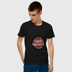 Футболка хлопковая мужская Amon Amarth: Rune цвета черный — фото 2