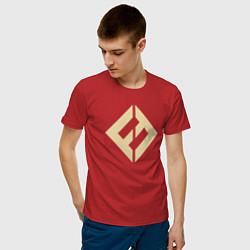 Футболка хлопковая мужская Concrete & Gold цвета красный — фото 2