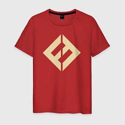 Футболка хлопковая мужская Concrete & Gold цвета красный — фото 1