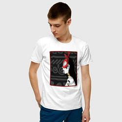 Футболка хлопковая мужская Supreme girl III цвета белый — фото 2