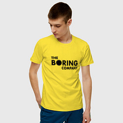 Футболка хлопковая мужская The boring company цвета желтый — фото 2