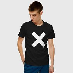 Футболка хлопковая мужская The XX: White X цвета черный — фото 2
