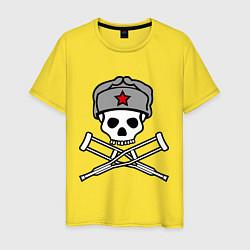 Футболка хлопковая мужская Jackass (Чудаки) СССР цвета желтый — фото 1