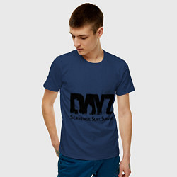 Футболка хлопковая мужская DayZ: Slay Survive цвета тёмно-синий — фото 2