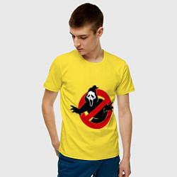 Футболка хлопковая мужская Крик: запрещено цвета желтый — фото 2