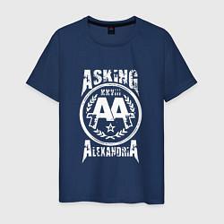 Футболка хлопковая мужская Asking Alexandria XXVIII цвета тёмно-синий — фото 1