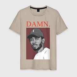 Футболка хлопковая мужская Kendrick Lamar: DAMN цвета миндальный — фото 1