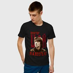 Футболка хлопковая мужская Виктор Цой навсегда цвета черный — фото 2
